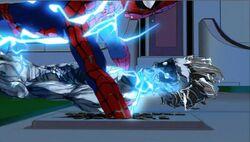 Spider-Man Punches Transformer SMTNAS