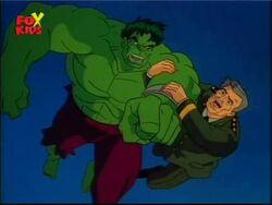 Hulk and Thunderbolt leap