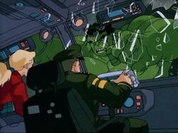 Hulk Smashes Into Hulkbusters Transport Helicopter