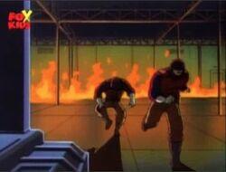 Kingpin Guards Flee Burning OsCorp