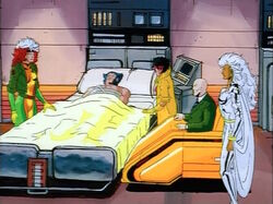 X-Men Watch Logan Infirmary