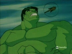 Hulk Growls At Helicopter