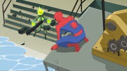 Spider-Man Electro Knocked Out SSM