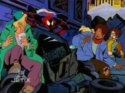 Basement Homeless Meet Spider-Man