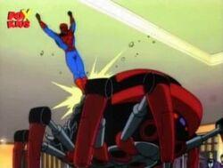 Spider-Man Kicks Black Widow