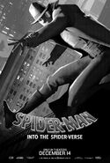 Spider-Man Into the Spider-Verse Noir Poster