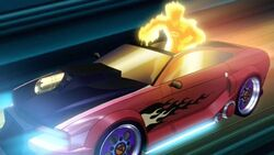 Human Torch Car Ejects FFWGH