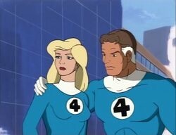 Invisible Woman Distracted by Namor