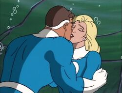 Mister Fantastic Invisible Woman Atlantis Kiss