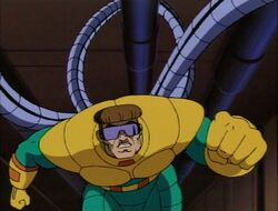 Doctor Octopus Crawls Along Pipes