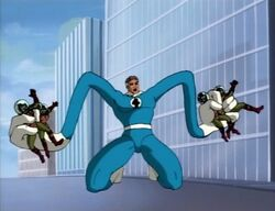 Mister Fantastic Throws Atlanteans