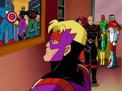 Hawkeye Looks at Captain America Picture