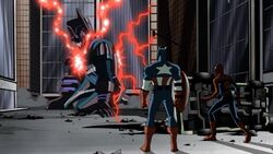 Captain America Spider-Man See Galactus Stand AEMH