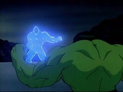 Hulk Confronts Zzzax Hoover Dam