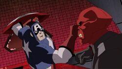 Cap Fights Red Skull Sleeper AEMH