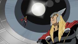 Ms Marvel Thor See Galactus Ship AEMH