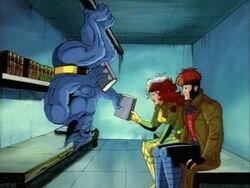 Gambit Rogue Visit Beast