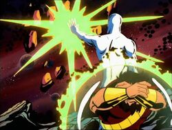 Silver Surfer Destroys Drax Rock