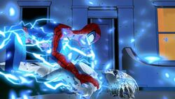 Spider-Man Tackles Electro SMTNAS