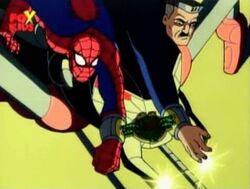 Spider-Man Jameson Laser off Bomb