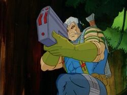 Cable Aims Rifle