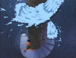 Namor Runs Down Stairs