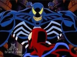 Venom Finds Spider-Man on Counter-Earth