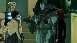 Iron Man Holds Giant Man UA2