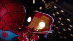 Spider-Man Wrestles Iron Man SBD