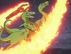 Torch Traps Skrull Raptors
