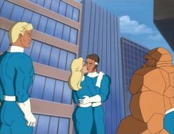Human Torch Thing Watch Invisible Woman Mister Fantastic Kiss