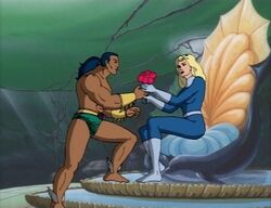 Namor Gives Invisible Woman Roses