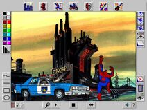 Spider-Man Cartoon Maker Interface