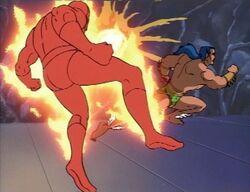 Namor Flees Human Torch