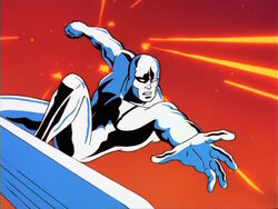 Silver Surfer Dodges Tech World Fire