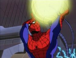 Spider-Man Throws Fusion Battery