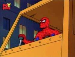 Spider-Man Operates Crane