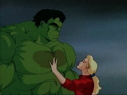 Betty Touches Hulks Zzzax Burn