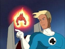 Human Torch Approaches Torch-Skrull