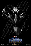 Black Panther Read 3D Poster