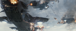 Helicarrier under attack TWS