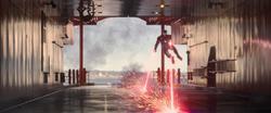 Iron Man repairing the Staten Island Ferry