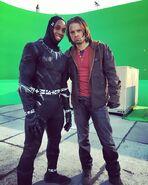 On set Captain America Civil War 3