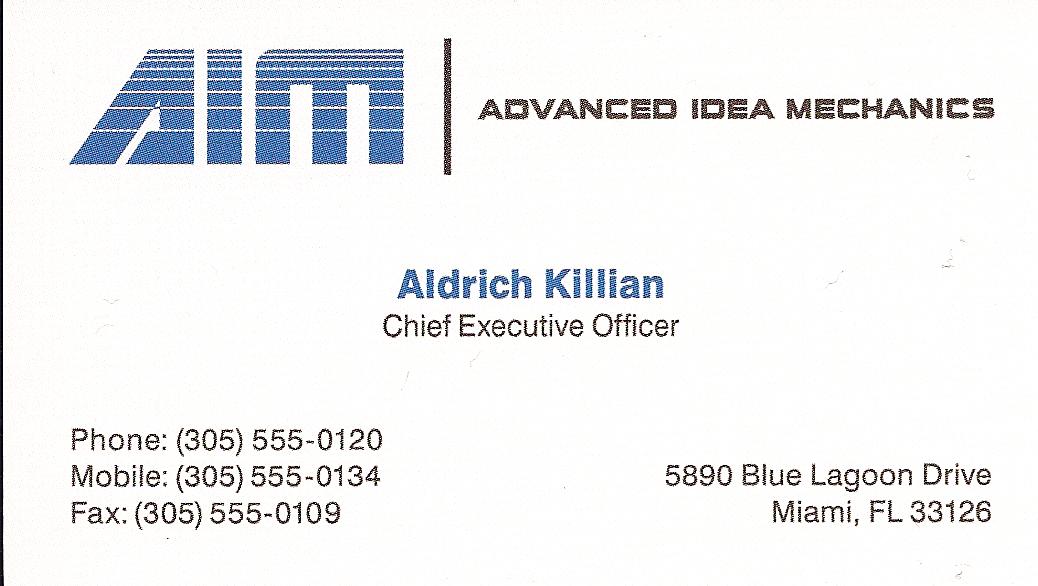 Image aldrich killians business cardg marvel cinematic aldrich killians business cardg colourmoves