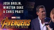 Josh Brolin Joins Chris Pratt and Winston Duke Live at the Avengers Infinity War Premiere