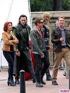 The Avengers filming 7