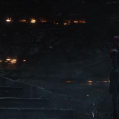 Thanos debate sobre su filosofía con Gamora.