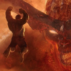 Hulk decide enfrentar a Surtur.