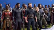 Okoye, T'Challa, Cap, Widow & Bucky (Infinity War BTS)