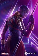Okoye Avengers Infinity War poster